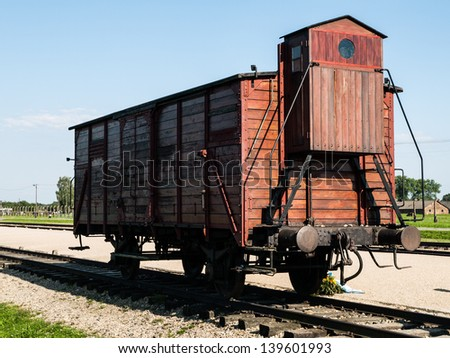 Transport wagon in Birkenau