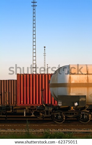 transportation by rail in containers and tanks