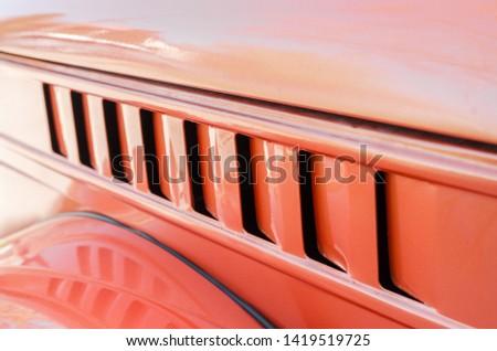 transportation details close up view. repairing the car concept