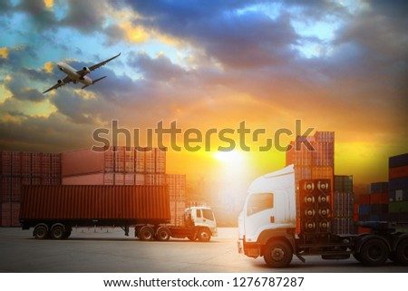 Transportation, import-export, logistic, shipping business management  #1276787287