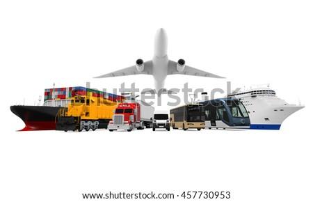 Transportation Vehicles. 3D rendering