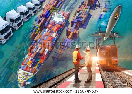 Transportations services under logistics system to customers for international Worldwide, all kinds of conveyance services door to door #1160749639