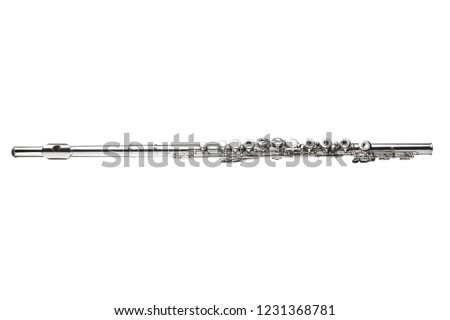 transverse flute isolated on white background with copy space and clipping path included #1231368781