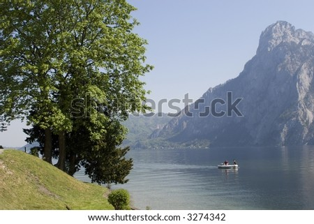 traunsee in austria