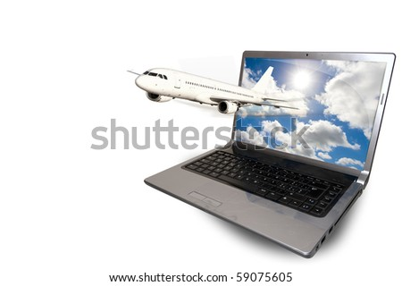Travel and computer stock photo