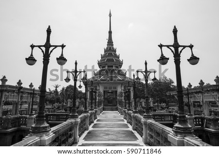 travel Autthayan Chalerm Karnchanapisek in nontaburi Thailand architecture of thailand Stock fotó ©