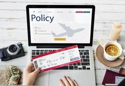 Travel Aviation Insurance Website Concept