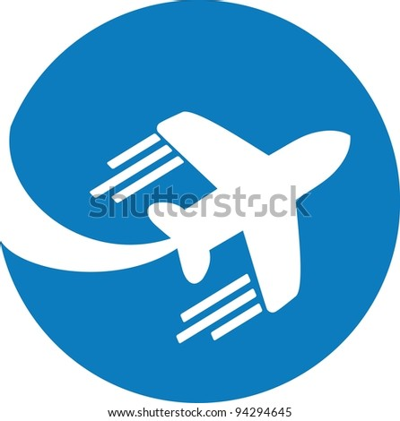 Travel background with aircraft and place for your text.  Illustration