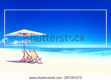 Travel Beach Summer Landscape Pacific Ocean Concept #281185673