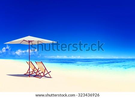 Travel Beach Summer Landscape Pacific Ocean Concept #323436926