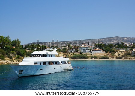 Travel boat by the coast of Cyprus