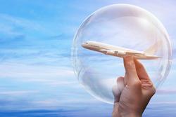 travel bubble concept, travel concept