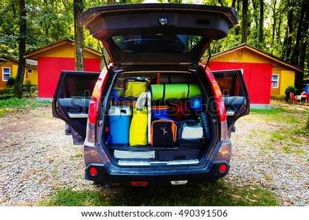 travel car and camping luggage...