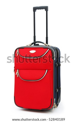 Travel case isolated on the white background