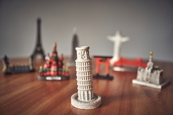 Travel concept background. Tower of Pisa.