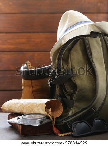 travel concept   backpack ...