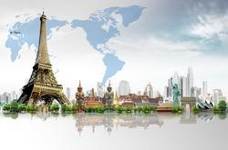 Travel concept, Eiffel Tower, Paris