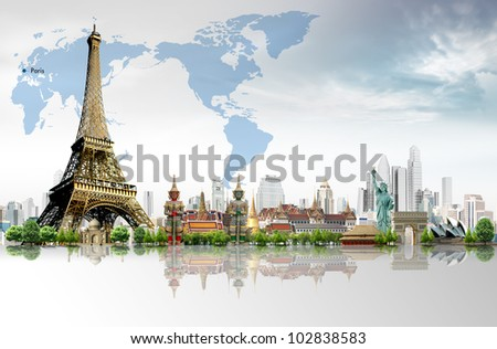 Travel concept, Eiffel Tower, Paris