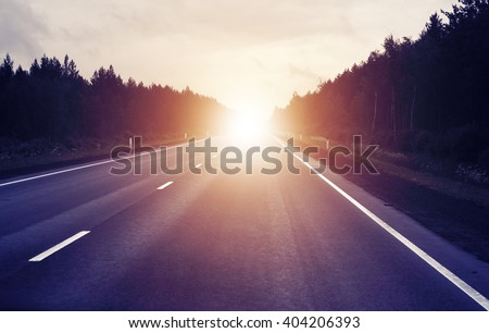 travel concept  sunrise on an...