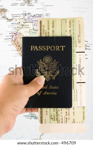 Travel documents - stock photo