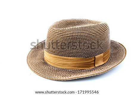 Travel hat isolated on white background #171995546