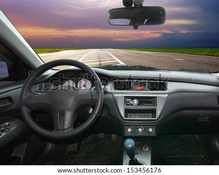 Travel in car. Element of design. #153456176