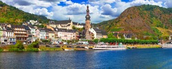 Travel in Germany - famous Rhine river cruises. Cochem town