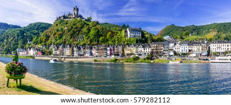 Travel in Germany - river cruises in Rhine river, medieval Cochem