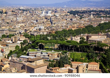 Travel in Rome, bird's eye view