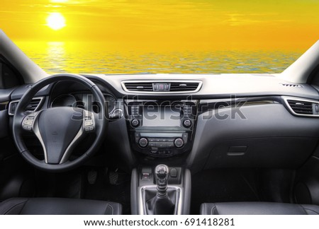 travel in the car  #691418281