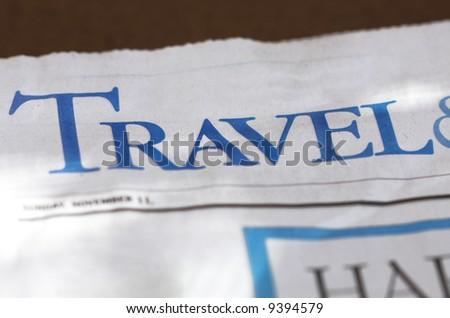 Travel info in newspaper