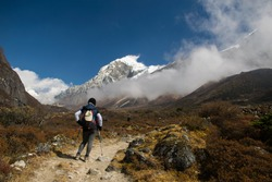 Travel Inspiration, Goechala Trek in Sikkim, Mount Pandim covered with clouds, Travel Motivation, Hiking into the mountains