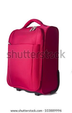travel luggage isolated on white
