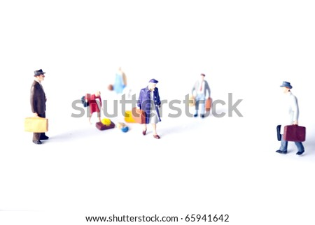 travel people on the way - stock photo