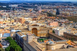 Travel Photography: Cityscape View on the Vatican Museum of Rome / Italy