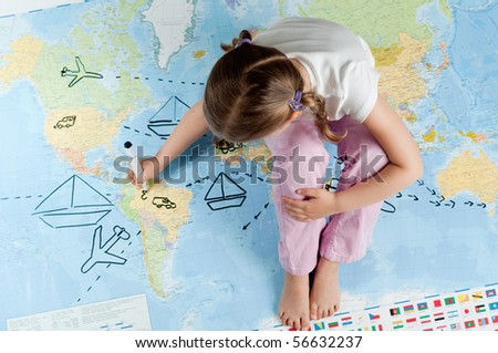 Travel planning - stock photo