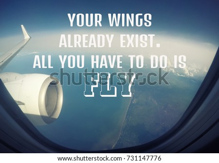 Free Photos Inspirational Motivational Life Quote On Wing Of An Cool Airplane Quotes
