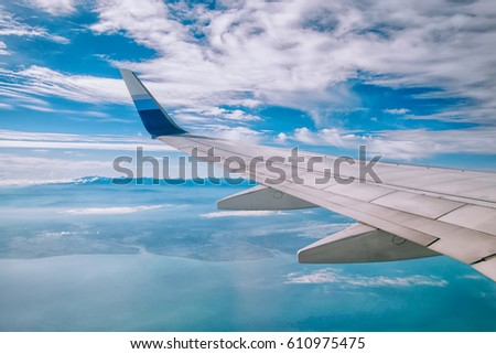 Travel sky, wings #610975475