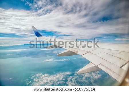 Travel sky, wings #610975514