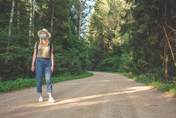 Travel ,Staycations,Social distance. gen z travels with mask covid 19 coronavirus pandemic, isolation, tourism,new normal.Staycations, hyper-local travel, Road trip,getaway, natural environment