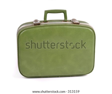 Travel suitcase. Contains clipping path