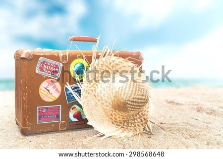 Travel, Suitcase, Label. #298568648