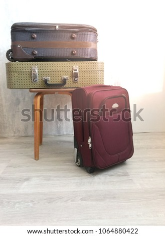 Travel suitcase prepareing concept, preparation for vacation, travel or vacation. #1064880422