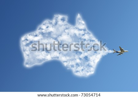 Travel the world clouds concept : Australia