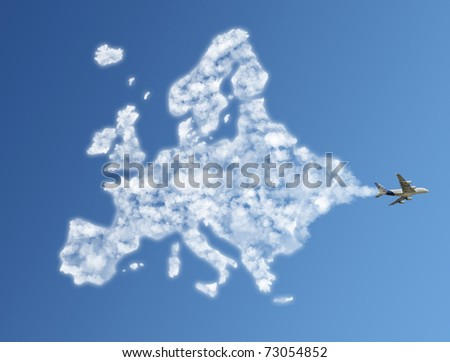 Travel the world clouds concept : Europe