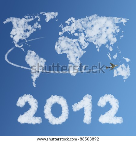 Travel the world concept in 2012