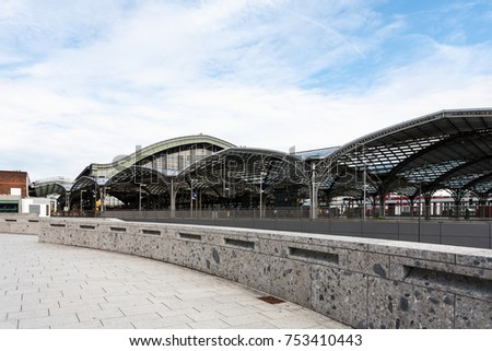 travel to Germany - platforms of Hauptbahnhof (Main railway station) in Cologne city in september