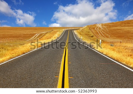 Travel to steppes of California on excellent American highway
