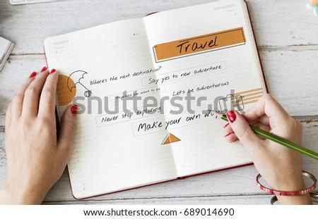 Travel Tourism Luggage Bag Icon #689014690