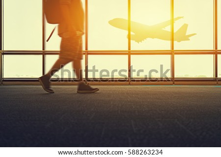 travel trip in airport concept  ...